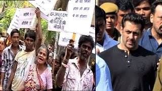 Exclusive: Slum Dwellers PROTEST against Salman