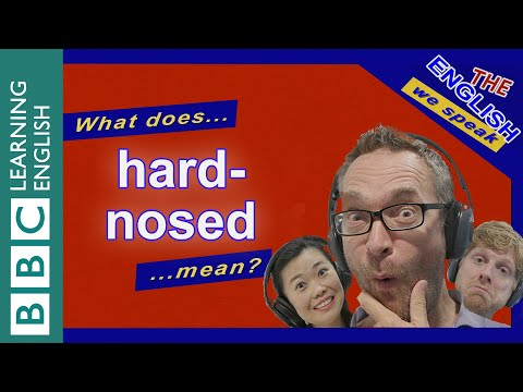 Hard-nosed: The English We Speak