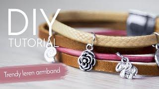 Sieraden maken met Kralenwinkel Online - Trendy armband met leer