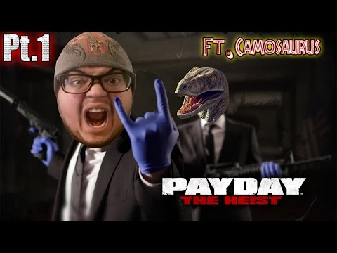 "Rudra Plays: Payday The Heist Ft. Camosaurus Part 1 ""First Bank FAIL"""