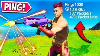 FORTNITE... BUT WITH *1000 PING* - Funny Fails and Moments! 1153