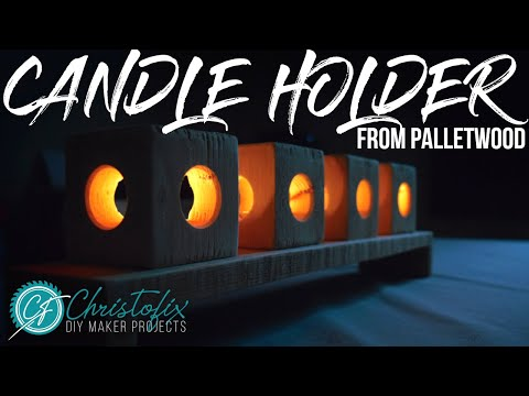Making a candle holder from pallet wood | DIY Home decoration - Episode 6