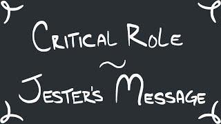 Papel fundamental de Animación: Jester Mensaje