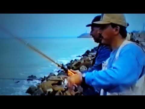 Recordando a un gran Colega kuki Lacabana pescando Palometas en la escollera Norte Mar del Plata
