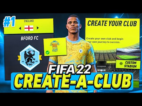FIFA 22 Create A Club Career Mode! - GREENWOOD Signs For MY NEW TEAM! (Ep #1)