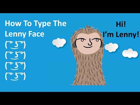How To Type Lenny Face ( ͡° ͜ʖ ͡°) - SECRET Shortcut