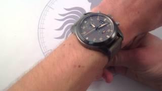 IWC Pilots Watch Chronograph Top Gun Miramar 3880-02 Luxury Watch Review