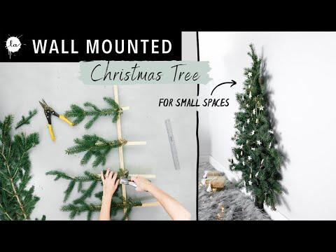Small Space Easy Christmas Tree Tutorial - ( DIY Space saving tree)