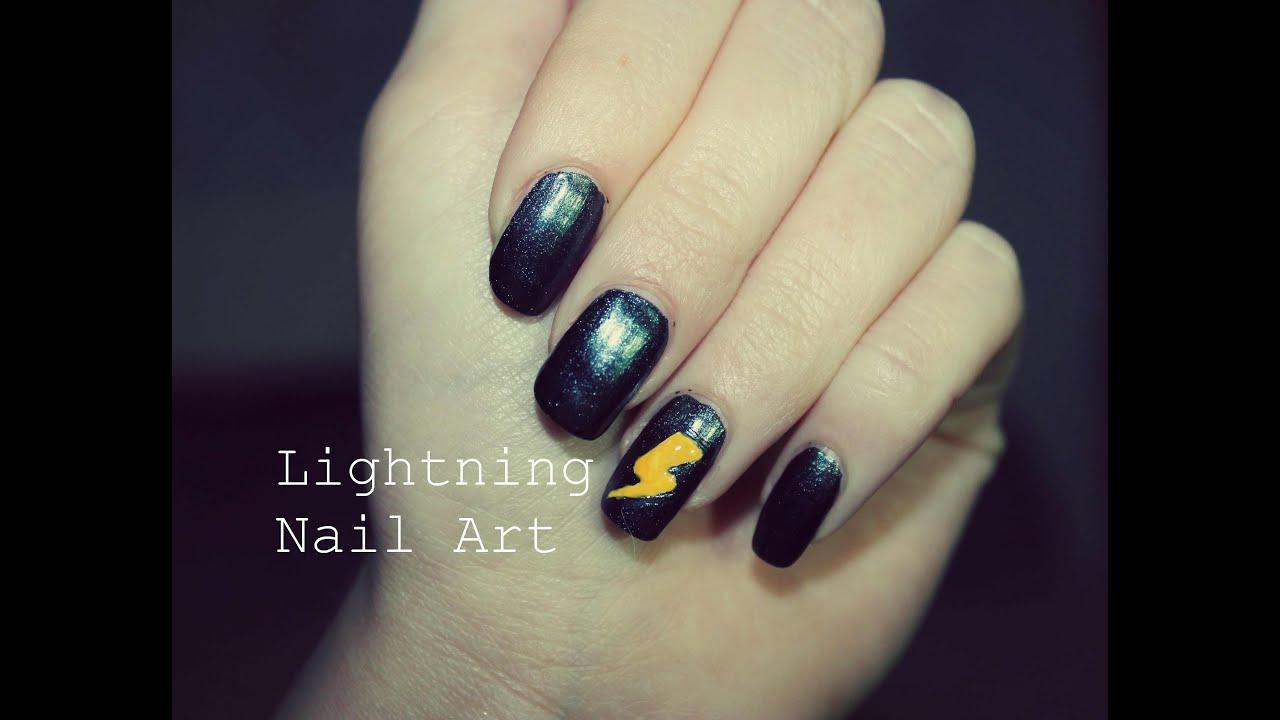 Easy Lightning Nail Art Nail Art Fulmine Youtube