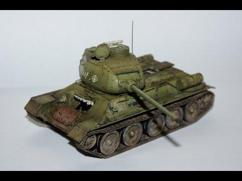 Building T-34/85, 1/48 scale Hobby Boss (Stavba modelu) CZ