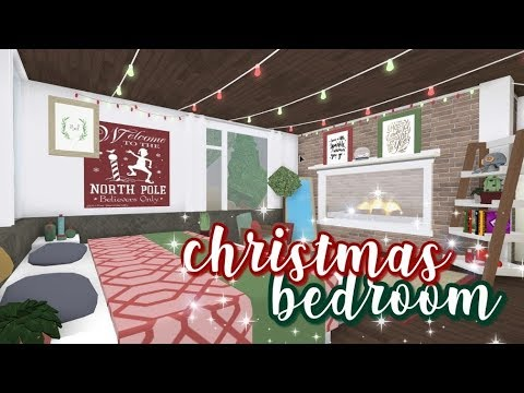 Bloxburg Christmas Bedroom 13k Youtube