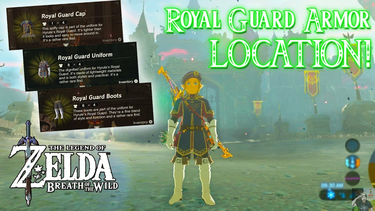 Royal Guard Armor Set Location Zelda Breath Of The Wild The Champions Ballad Youtube