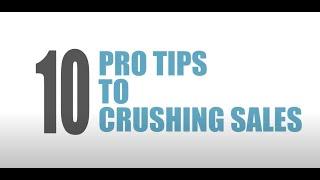 10 Pro Tips To Crush Sales | Sean Samson Training