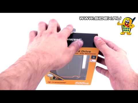 Sidex.ru: Видеообзор Portable HDD Transcend StoreJet 25M 500 Gb (rus)