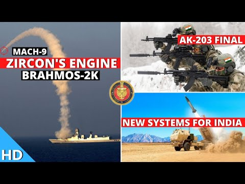 Indian Defence Updates : Zircon Engine On BrahMos-2,AK203 Deal Final,Quad=NATO,India Russia Exercise