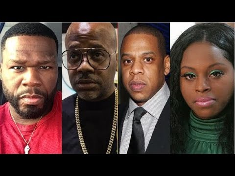 "50 CENT RIPS DAME DASH ""DAME A SUCKA, HE'S Trying To Get JAY JAMMED UP"" Over FOXY BROWN"