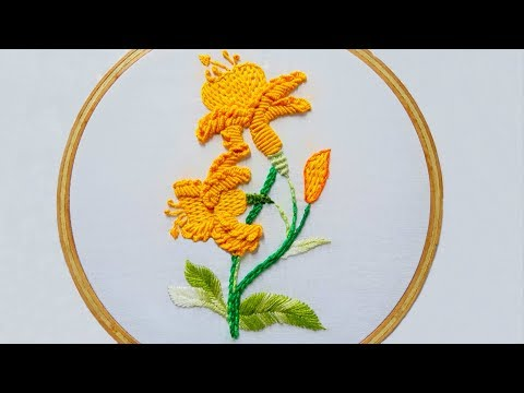 hand-embroidery-design-of-portuguese-knotted-stem-stitch-&-bullion-knots-stitch