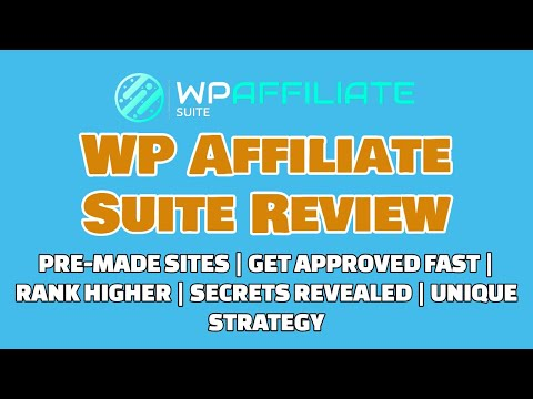 WP Affiliate Suite Review | Get Approved Fast | Ranking Secrets [REVEALED] thumbnail