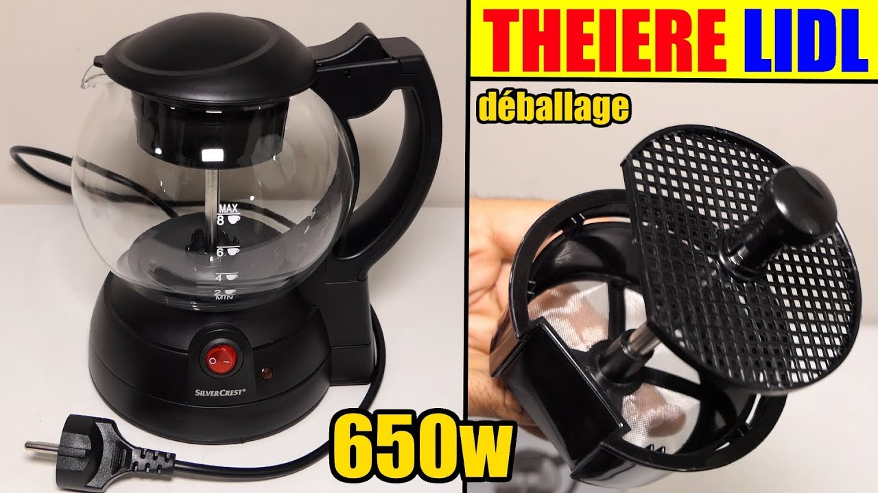 theiere lidl silvercrest electrique tea maker teekocher. Black Bedroom Furniture Sets. Home Design Ideas