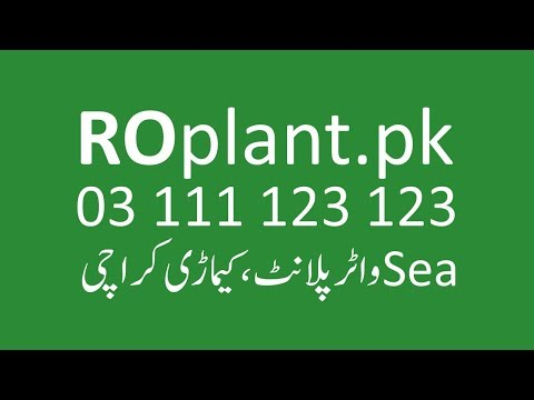 RO Plant Business in Karachi