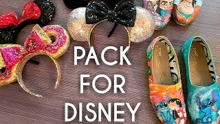 What to pack for Disney World & DIY Painted Disney Toms