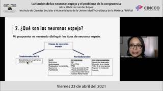 La función de las neuronas espejo y el problema de la congruencia - Mtra. Hilda Hernández López