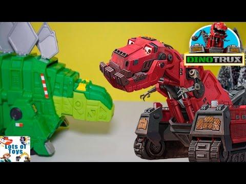 Play Doh Dinotrux Adventures!! Garby, Rock & Load Skate Park, Smash & Slide Construction Site