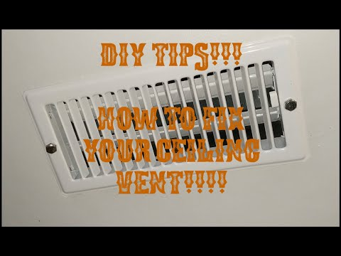DIY TIPS!!!! HOW TO FIX YOUR CEILING VENT IF IT WONT STAY IN PLACE!!!!