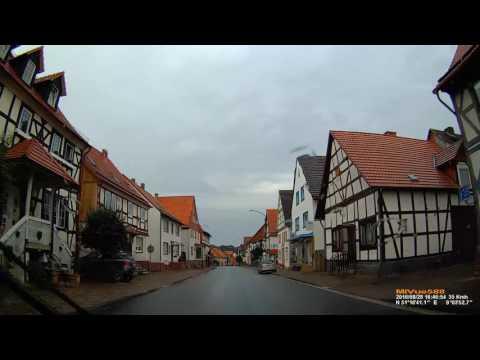 D: Freienhagen. Stadt Waldeck. Landkreis Waldeck-Frankenberg. Ortsdurchfahrt. August 2016