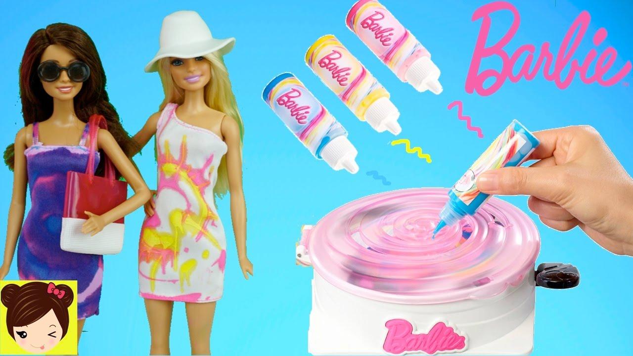Diseñamos Vestidos de Barbie con Pinturas - Juego de Moda Barbie ...