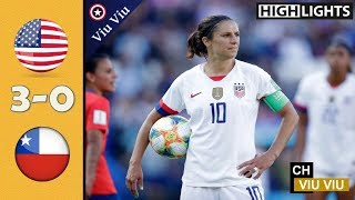 USA vs Chile 3-0 All Goals & Highlights | 2019 WWC