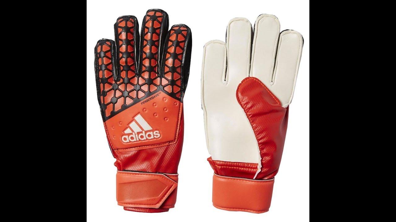 Nike Goalkeeper Gloves Youtube: Unboxing-Guantes Adidas Youth Ace Fingersave Rojos