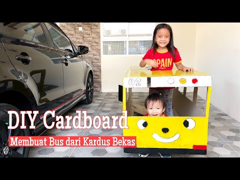 Zara Membuat Bus Tayo dari Kardus Bekas | DIY Cardboard Lani the Little Bus