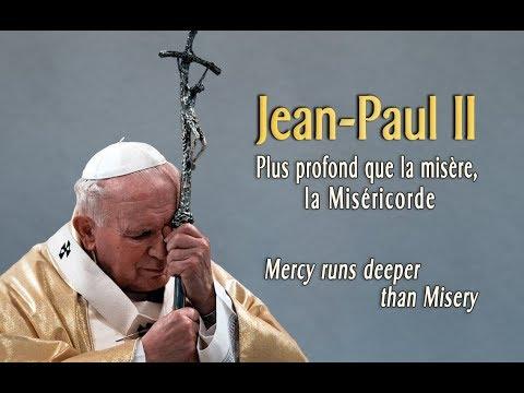 Dieper dan de ellende, gaat de barmhartigheid Johannes-Paulus II