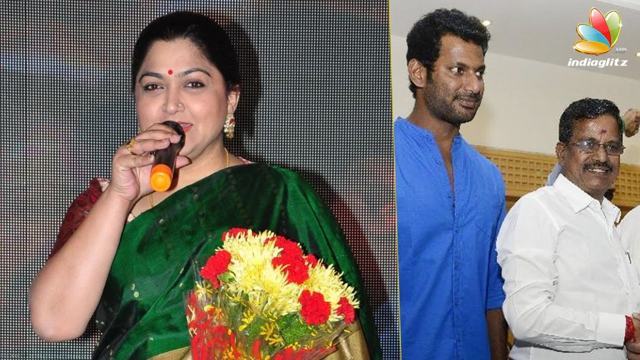 Kushboo Tamil Hot Cool kushboo joins vishal team to contest in producers council election