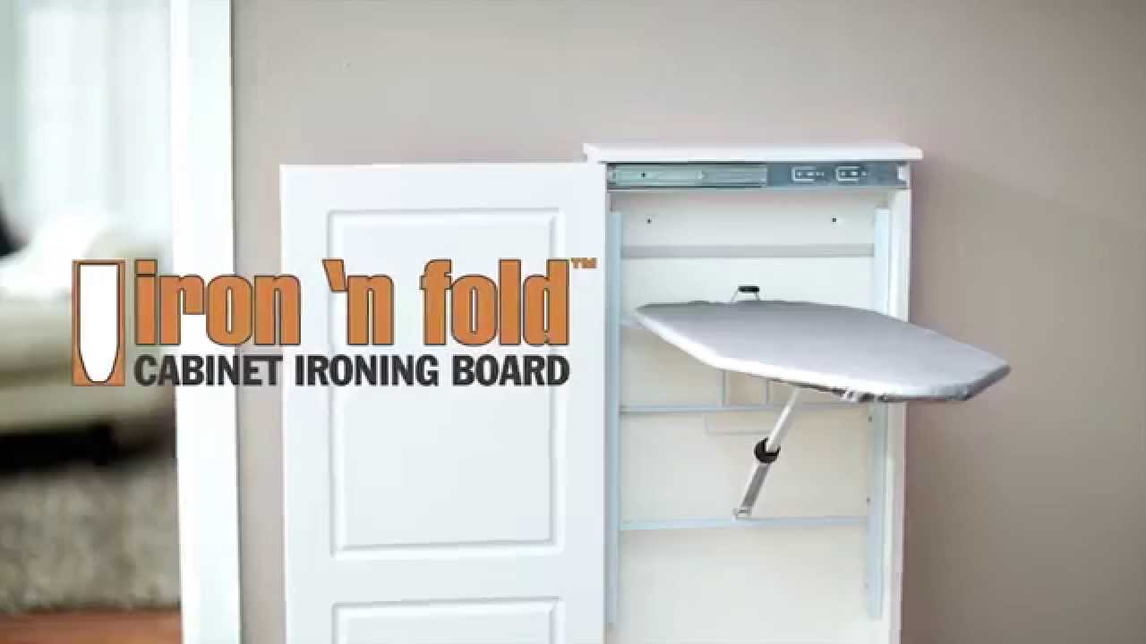 Iron n Fold Cabinet Ironing Board YouTube