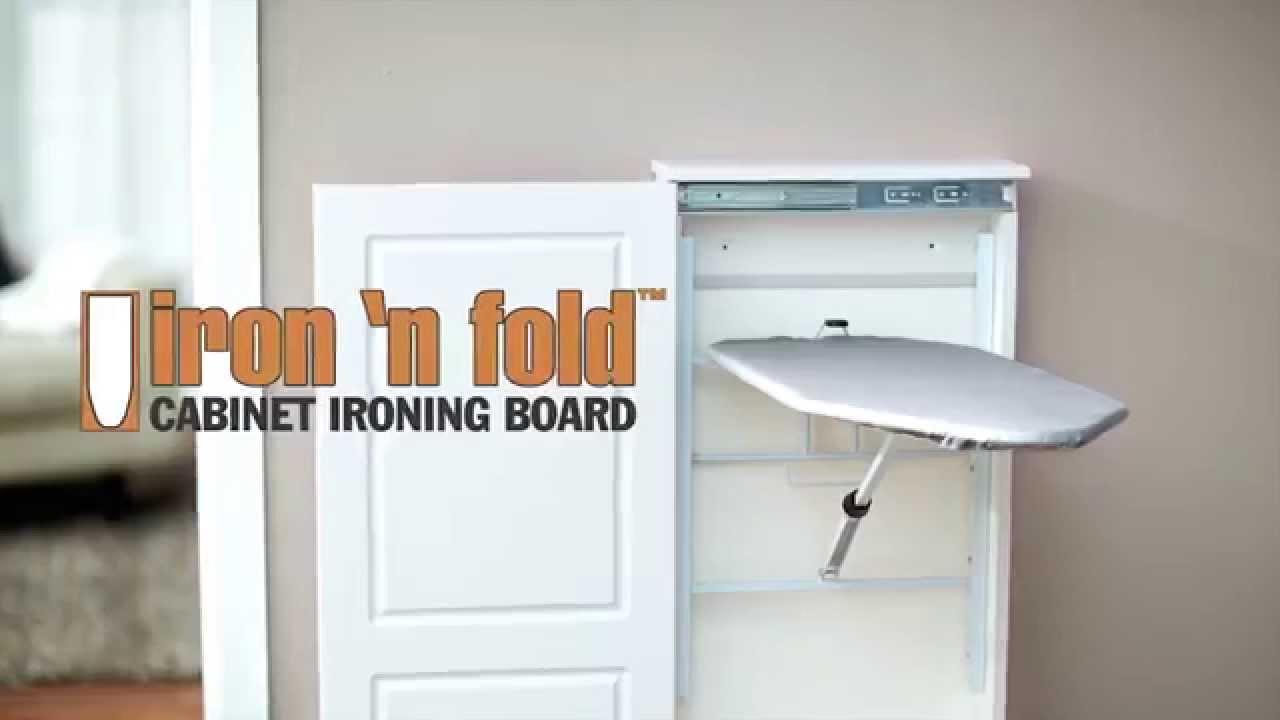 Iron N Fold Cabinet Ironing Board Youtube