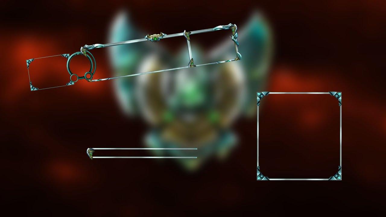 Free Platinum Border League Of Legends Overlay Youtube