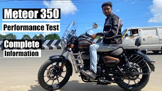 The New RE Meteor 350 Test Ride | Complete information in தமிழில் | Top Speed | B4Choose