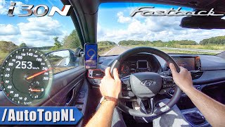 Hyundai i30N Fastback 275HP Performance TOP SPEED on AUTOBAHN by AutoTopNL