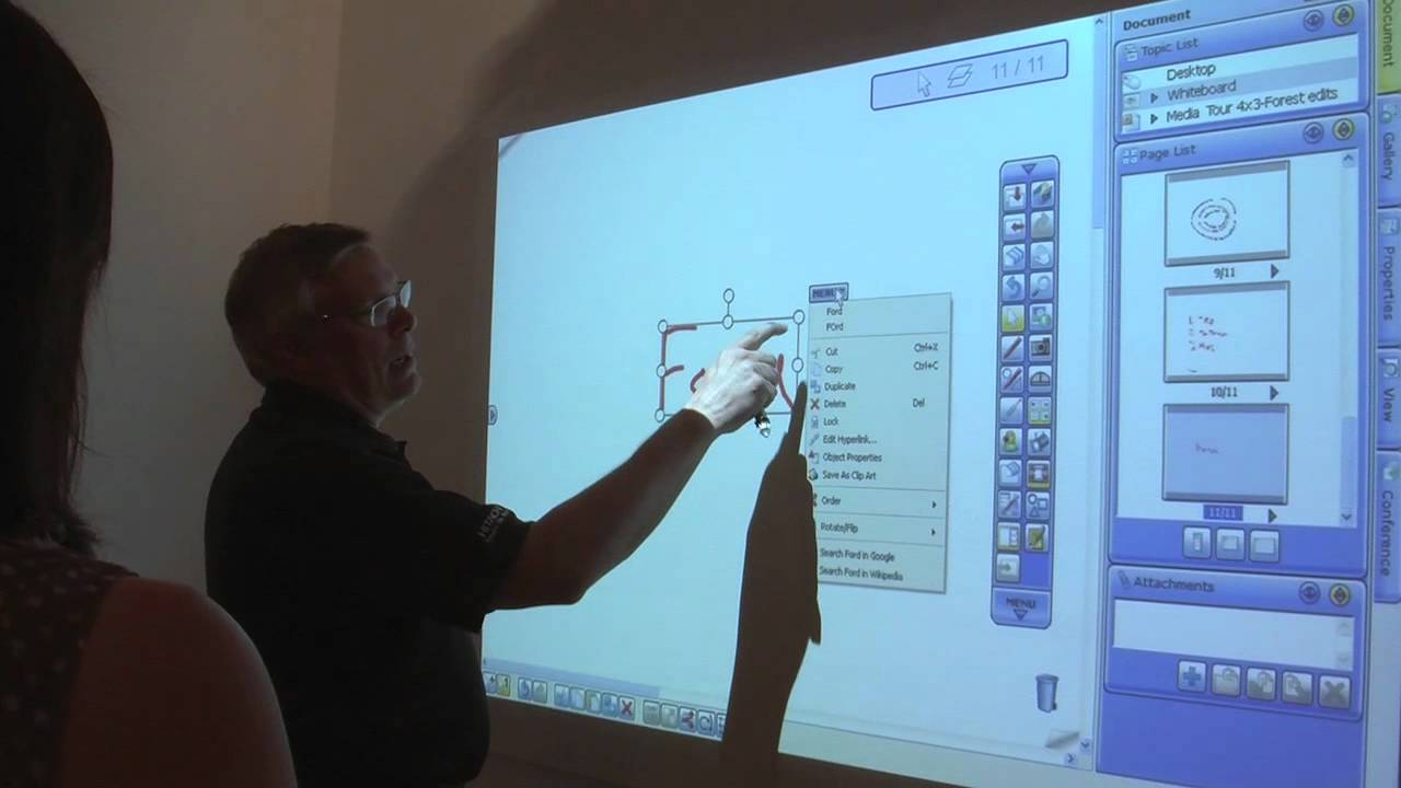 Hitachi Interactive Projector Demonstration - YouTube