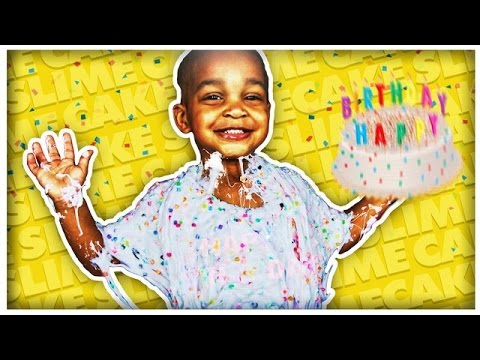 DIY GIANT BIRTHDAY CAKE SLIME   COLORFUL CONFETTI MONSTER SLIME   THE PRINCE FAMILY
