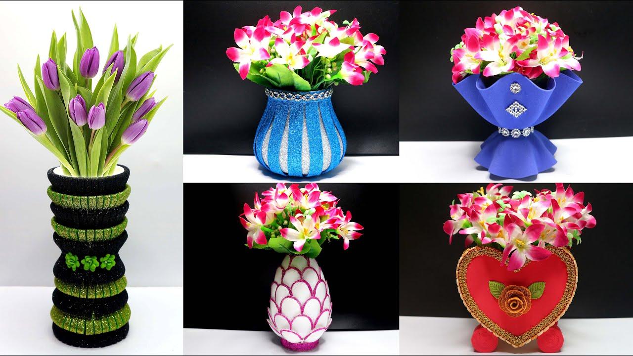 5 Ide Kreatif Vas Bunga dari Barang Bekas | Flower Vase Using Waste Materials DIY Ideas