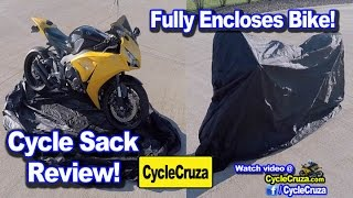 Cycle Sack Review – Cover Fully Encloses Motorcycle! Fits in Backpack!