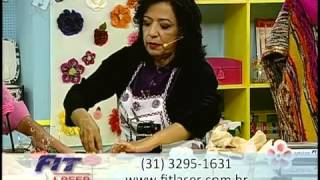 Como fazer flor chique em tecido: Renda e Cetim
