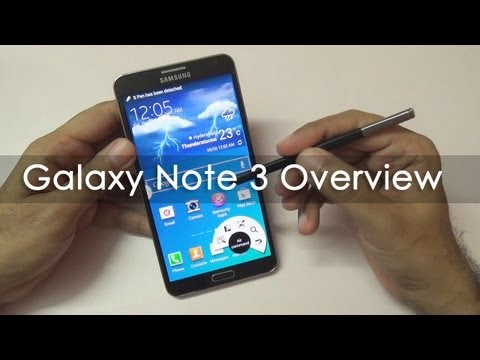 Samsung Galaxy Note 3 Hands On Overview