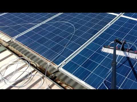 How to Clean My Solar Panels on my Shed Riverland?
