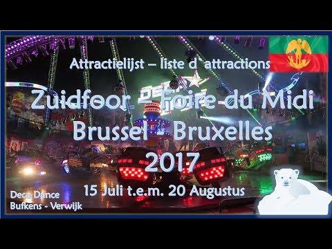 Attractielijst Zuidfoor - Liste d`attractions | Brussel - Bruxelles (2017)