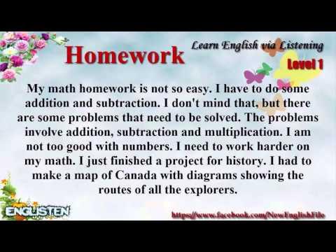 Learn English via Listening Level 1 Unit 100 Homework