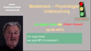MPU-Seminar Vorbereitung aufs MPU-Gespäch 1 : Einführung & was prüft der Psychologe eigentlich?